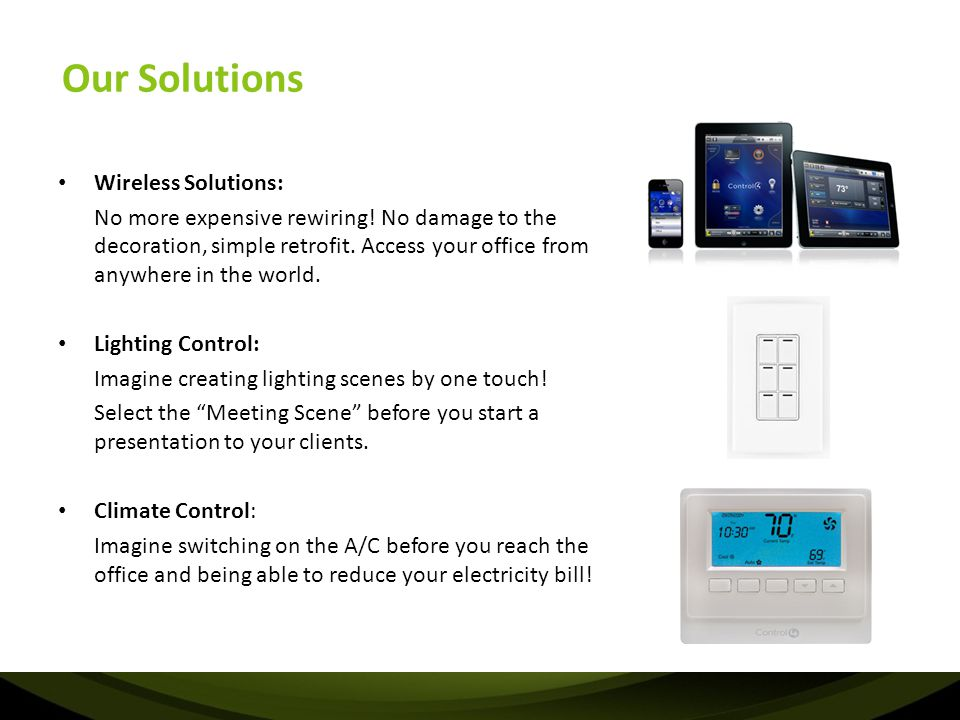 Our Solutions Wireless Solutions: