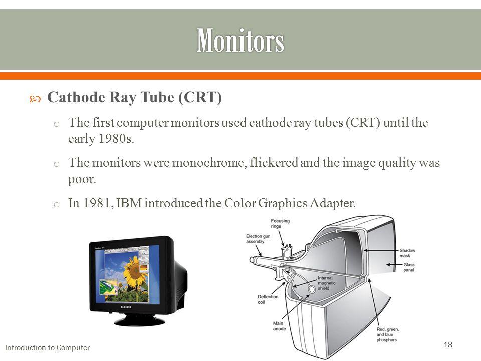 Monitors Cathode Ray Tube (CRT)
