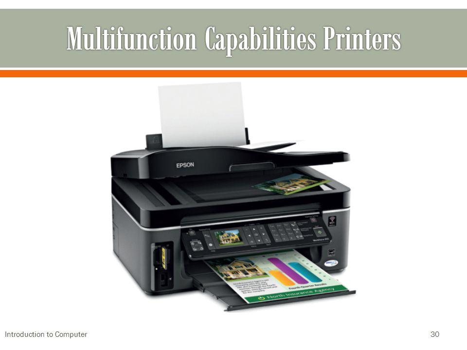 Multifunction Capabilities Printers