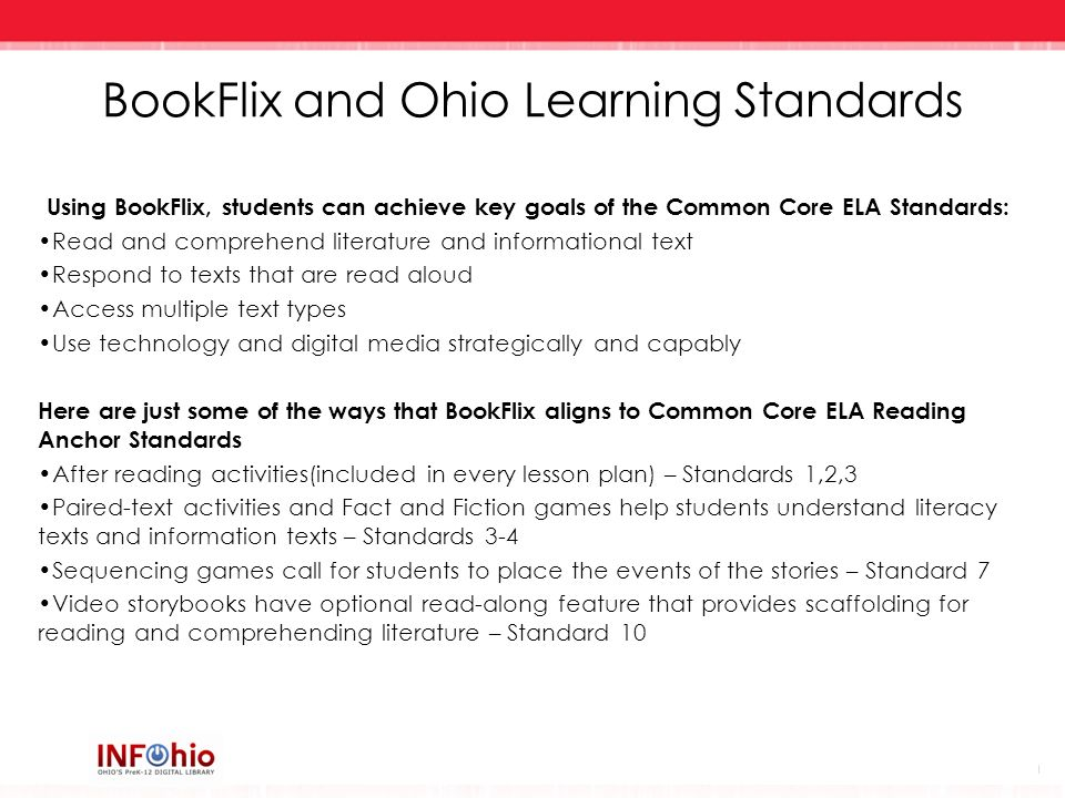 BookFlix and Ohio Learning Standards