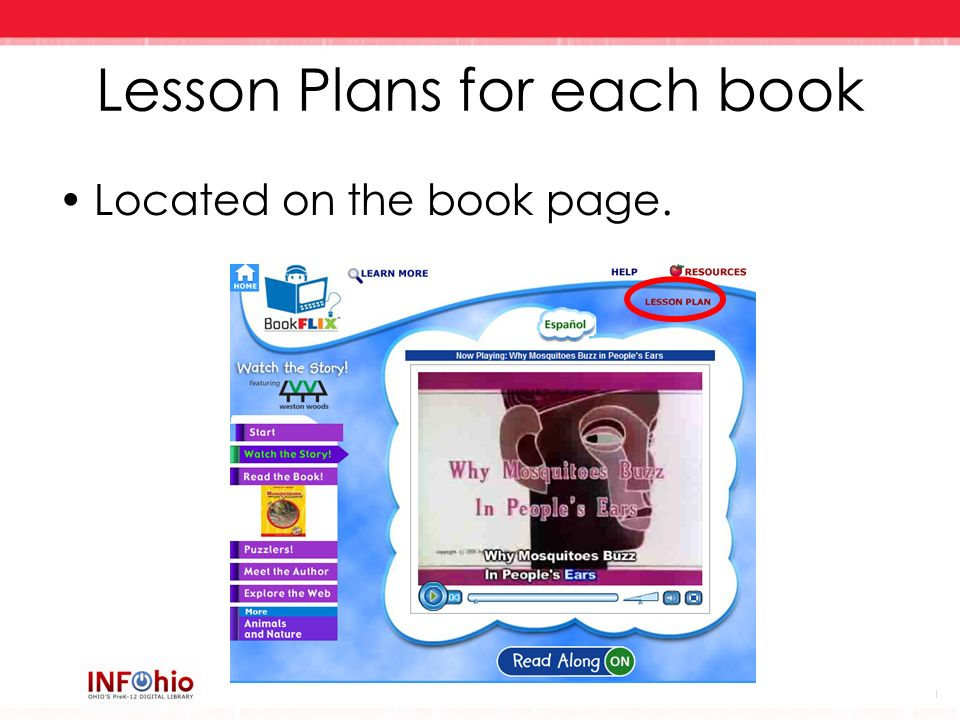 Lesson Plans for each book