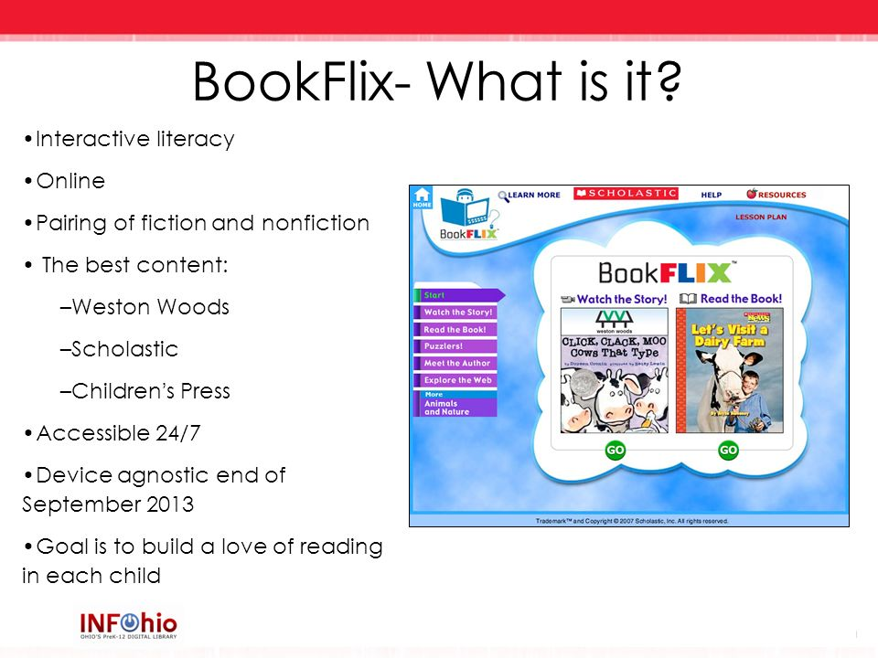 BookFlix- What is it Interactive literacy Online
