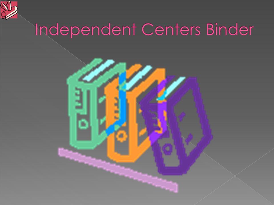 Independent Centers Binder