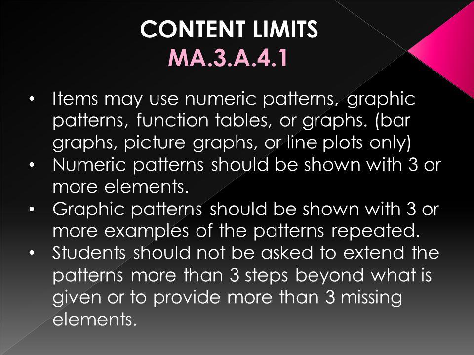 CONTENT LIMITS MA.3.A.4.1.