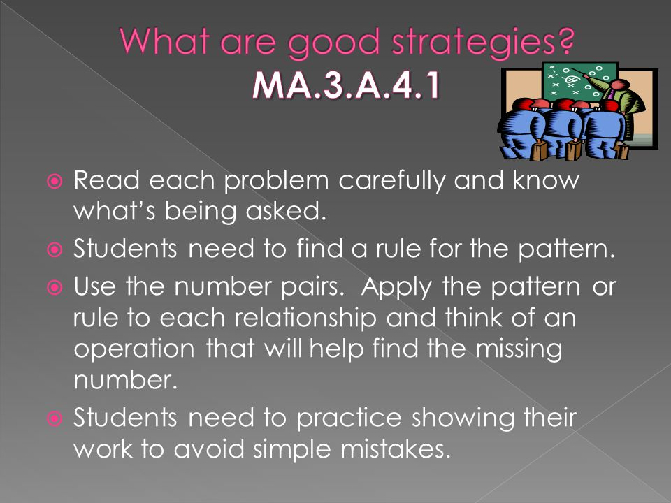 What are good strategies MA.3.A.4.1