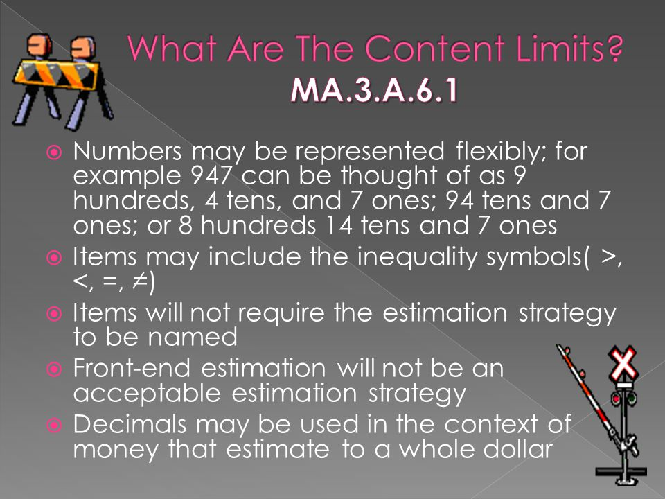 What Are The Content Limits MA.3.A.6.1