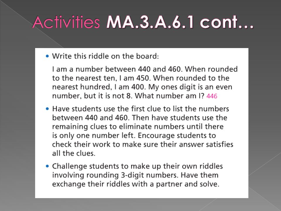 Activities MA.3.A.6.1 cont…