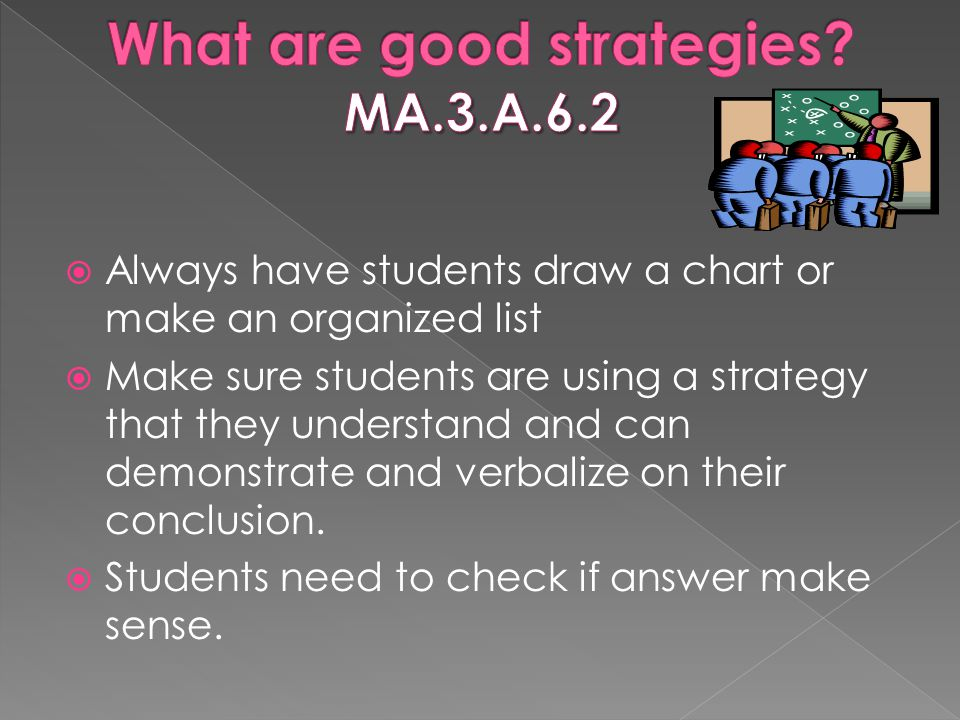 What are good strategies MA.3.A.6.2
