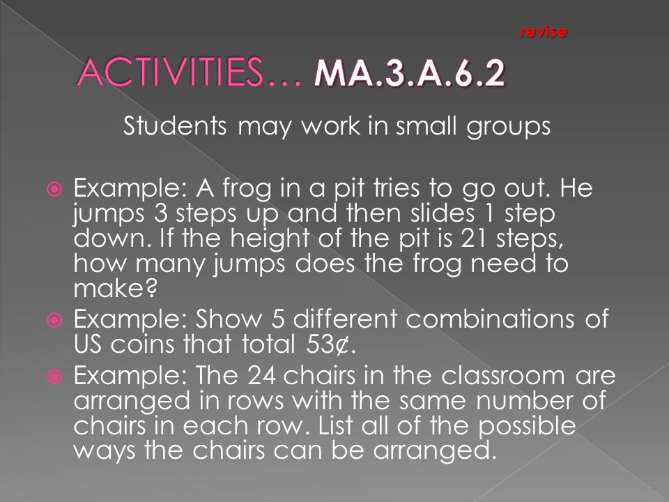 Students may work in small groups