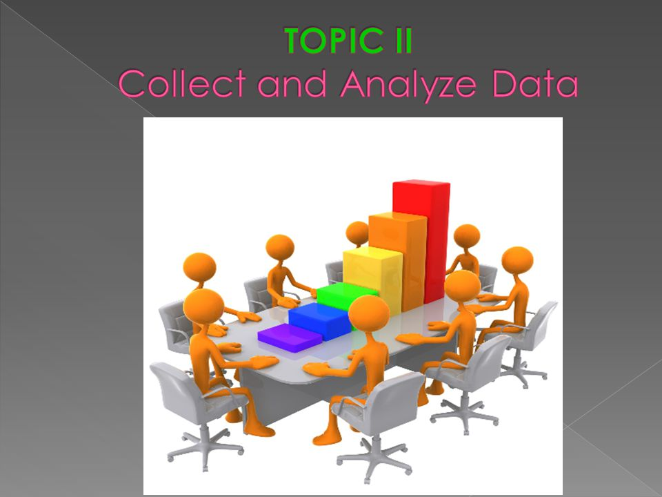 TOPIC II Collect and Analyze Data