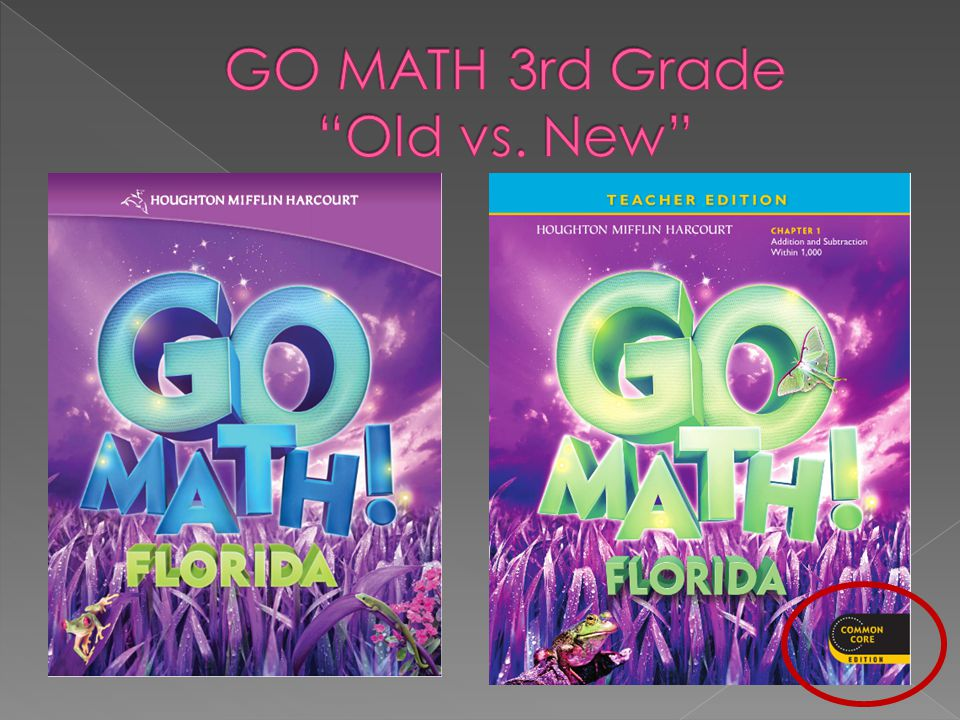 GO MATH 3rd Grade Old vs. New