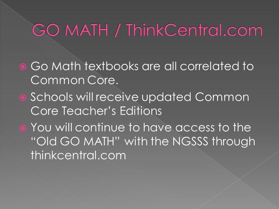 GO MATH / ThinkCentral.com