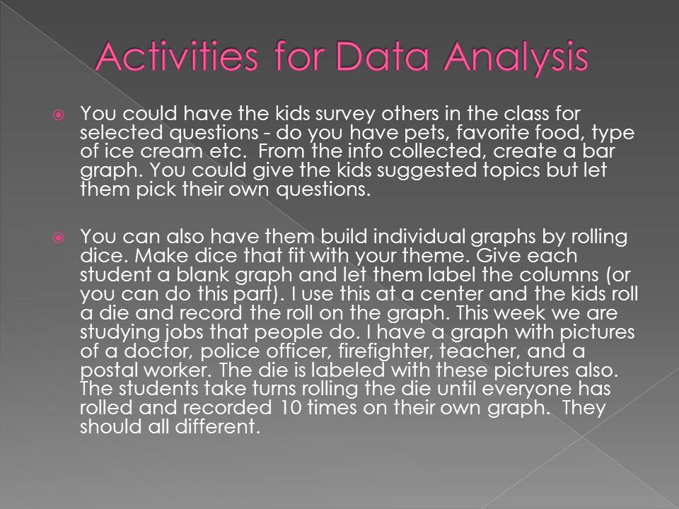 Activities for Data Analysis