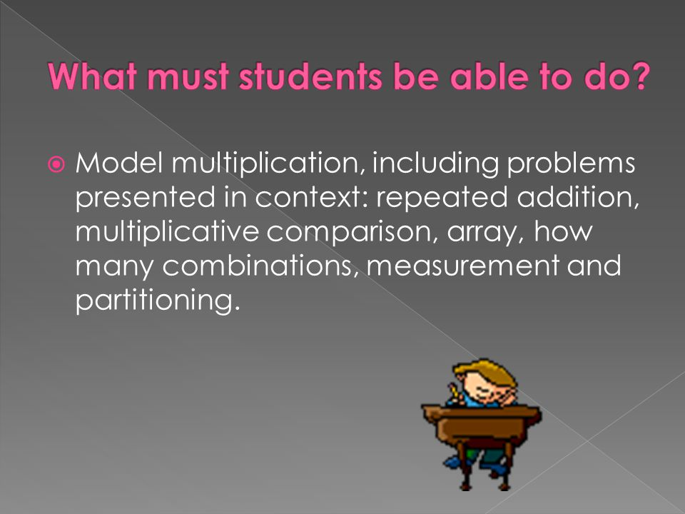 What must students be able to do