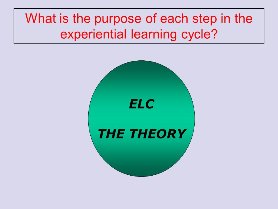What is the purpose of each step in the experiential learning cycle