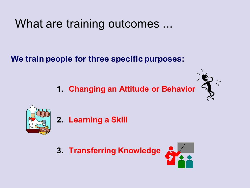 What are training outcomes ...