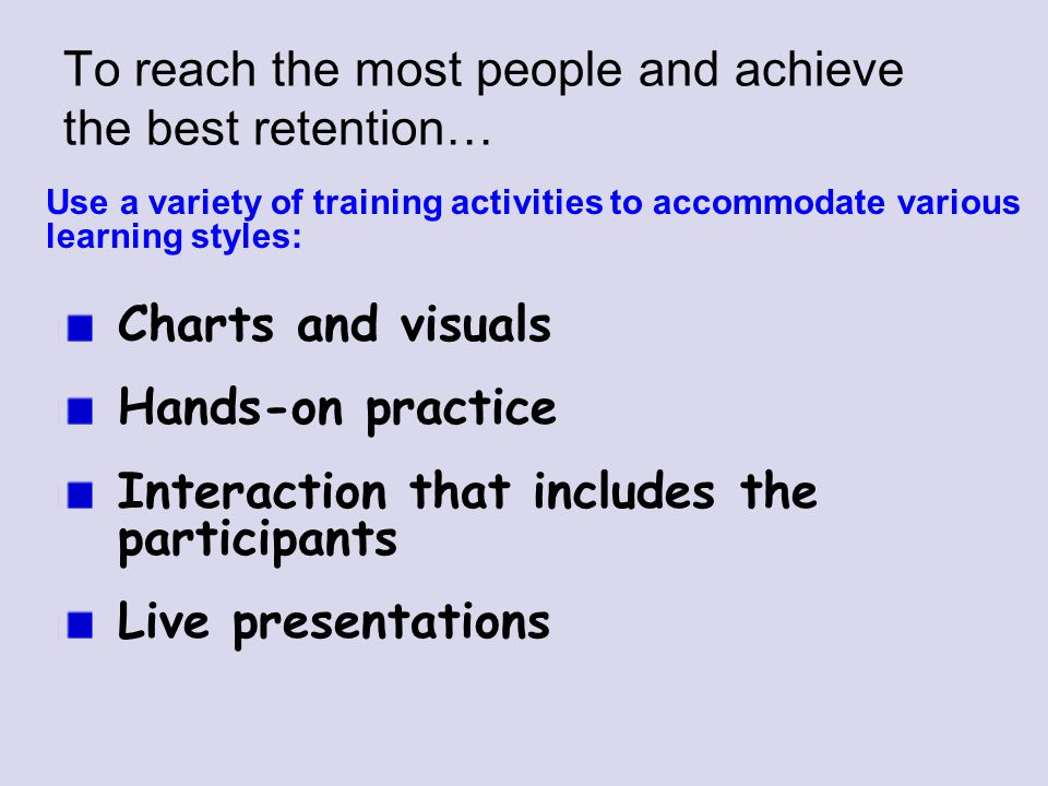 To reach the most people and achieve the best retention…