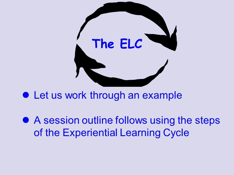 The ELC Let us work through an example