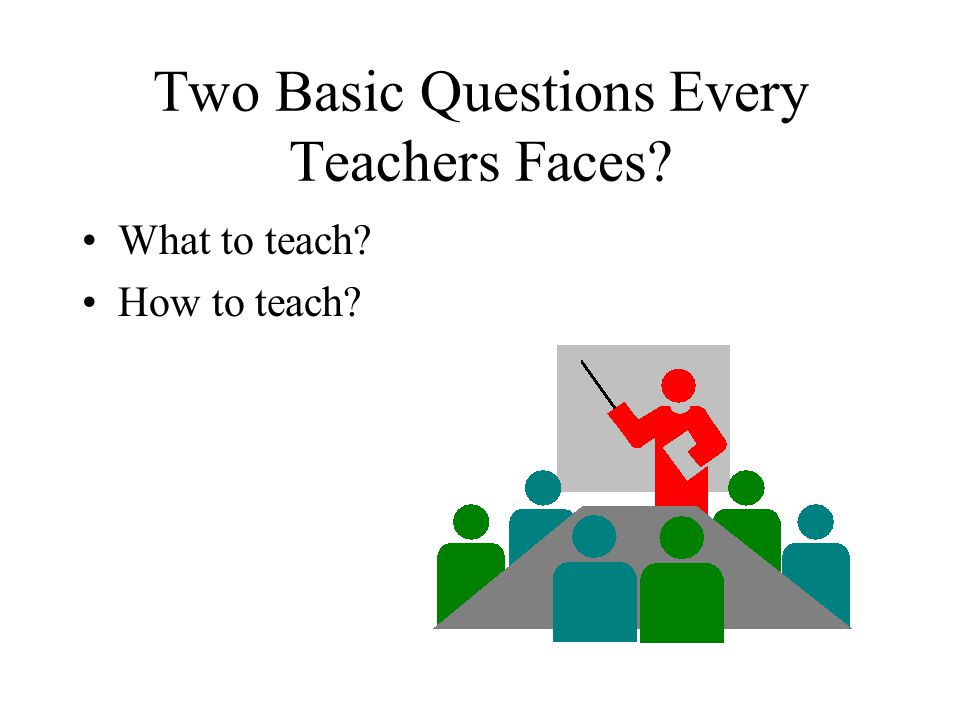 Two Basic Questions Every Teachers Faces