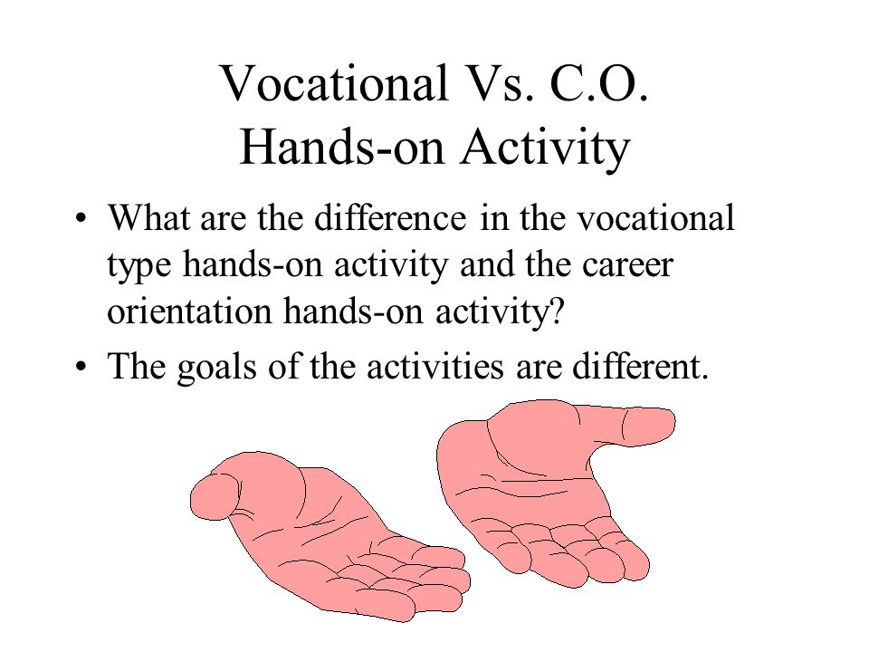 Vocational Vs. C.O. Hands-on Activity