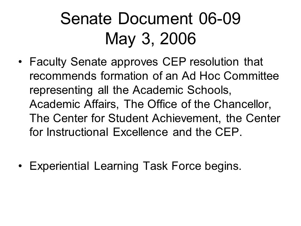 Senate Document 06-09 May 3, 2006