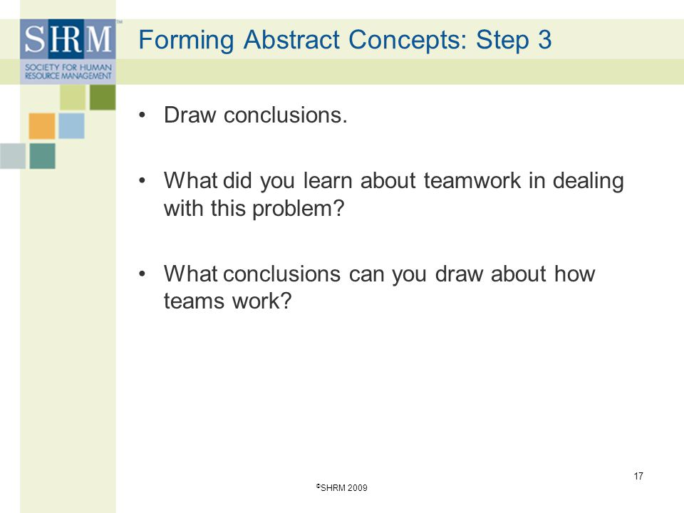 Forming Abstract Concepts: Step 3