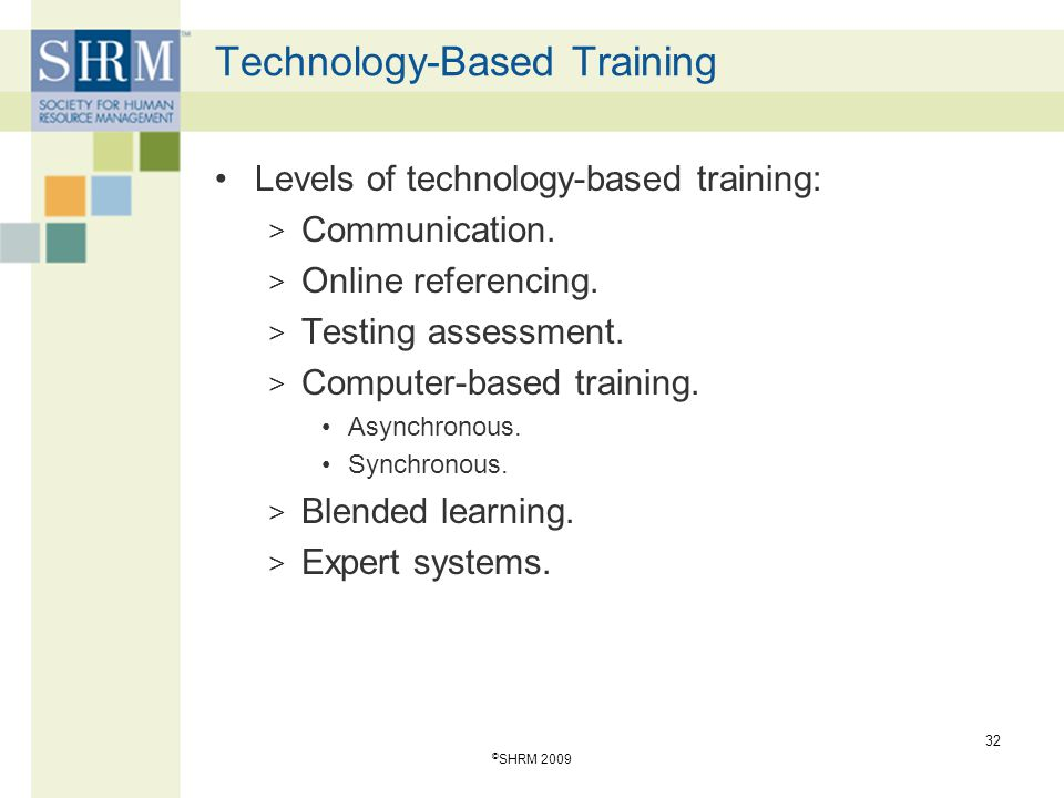 Technology-Based Training