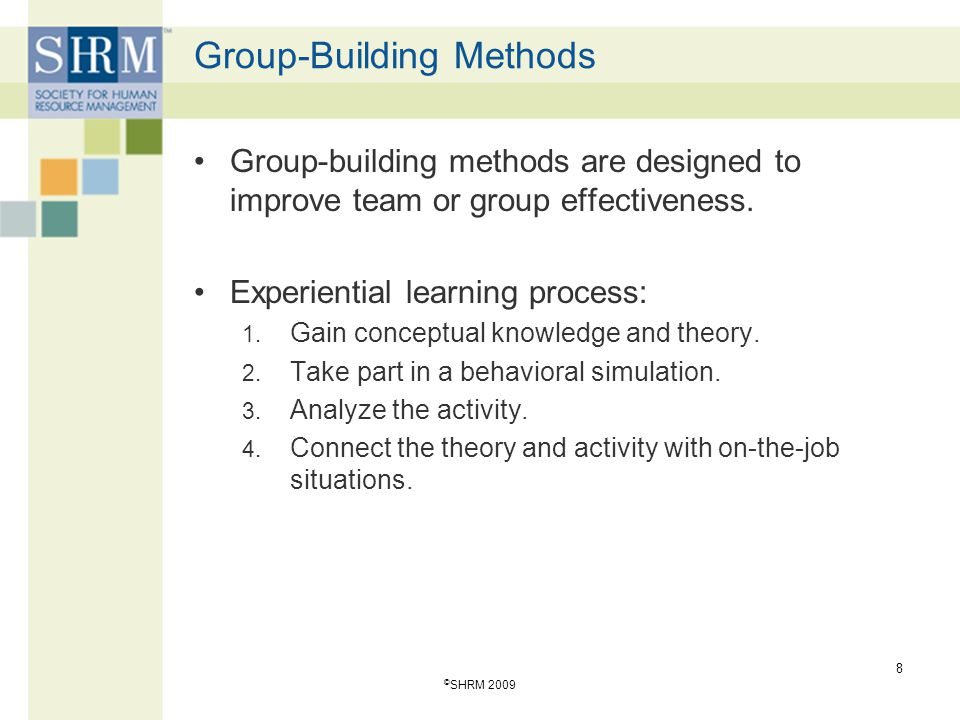 Group-Building Methods