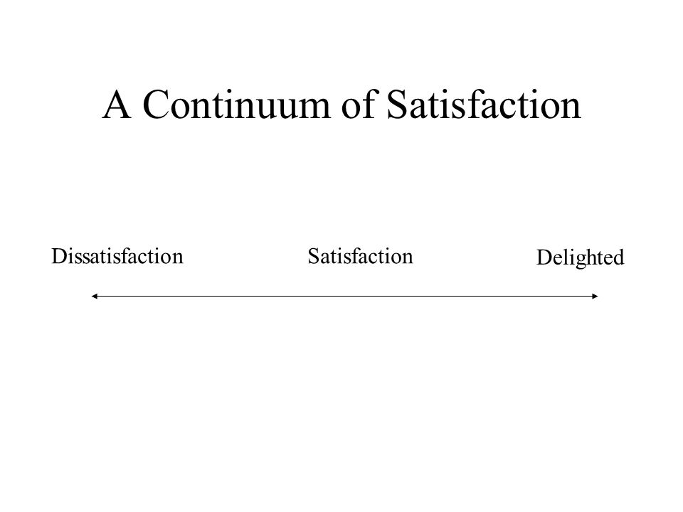 A Continuum of Satisfaction