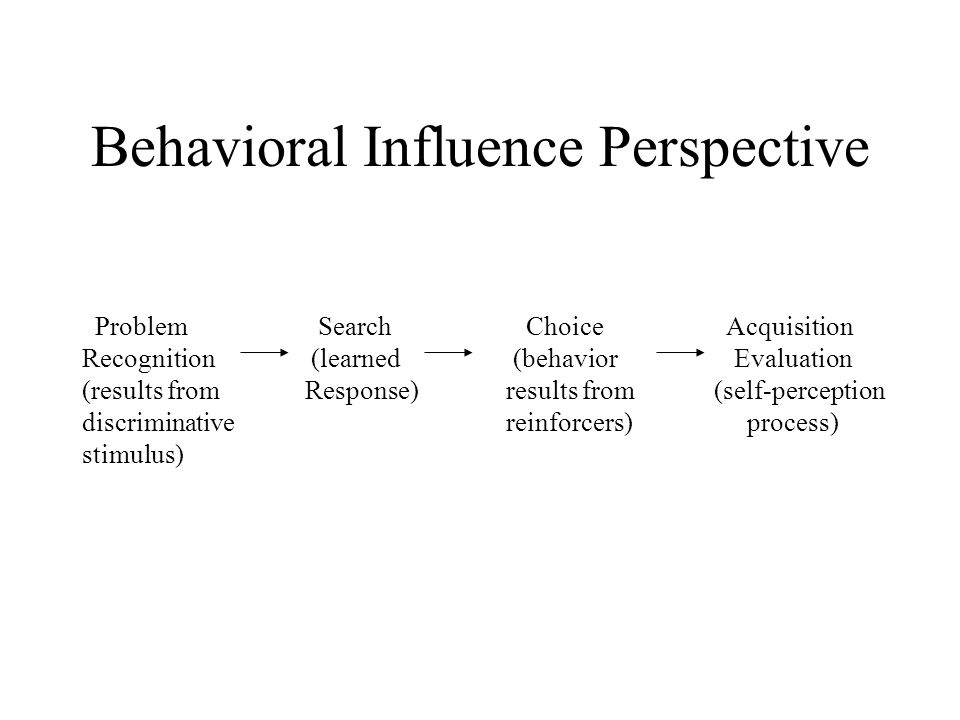 Behavioral Influence Perspective