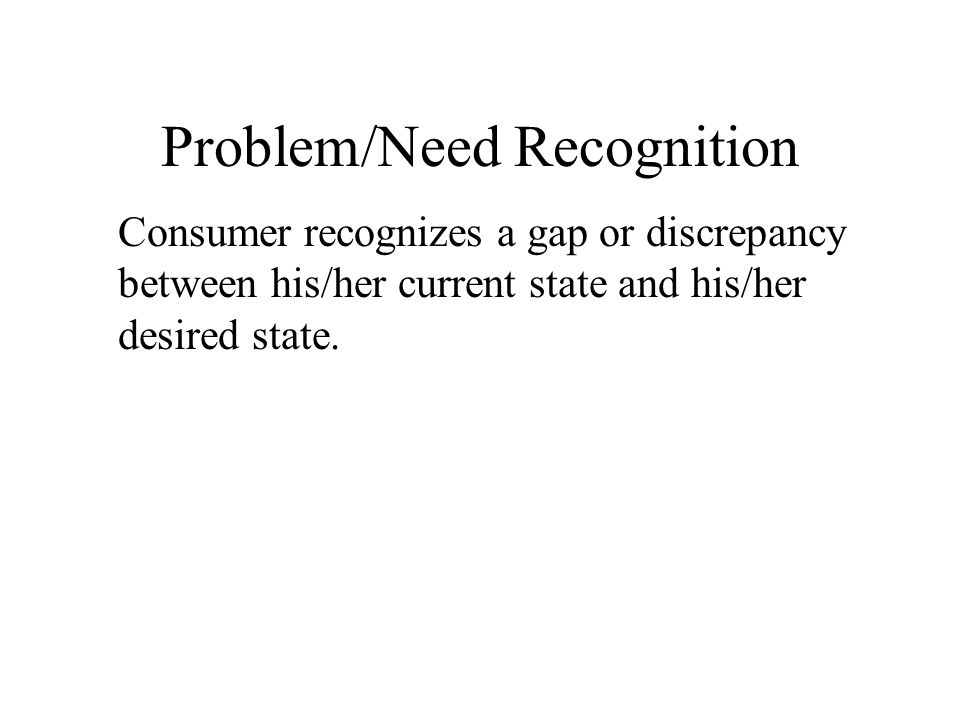 Problem/Need Recognition