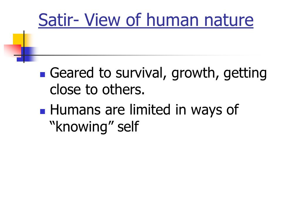 Satir- View of human nature