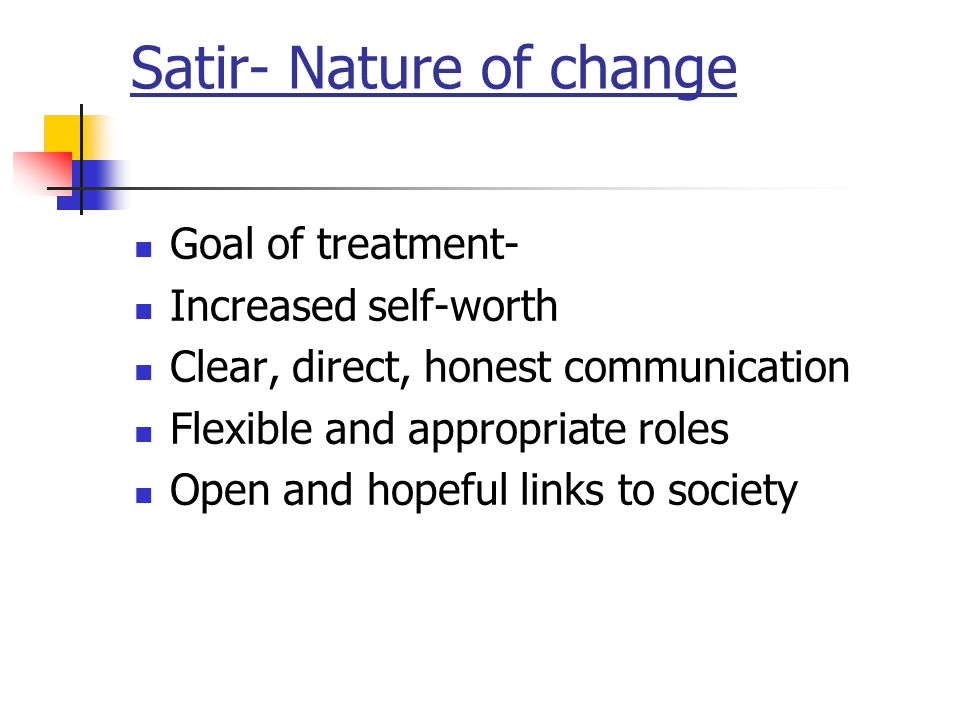 Satir- Nature of change