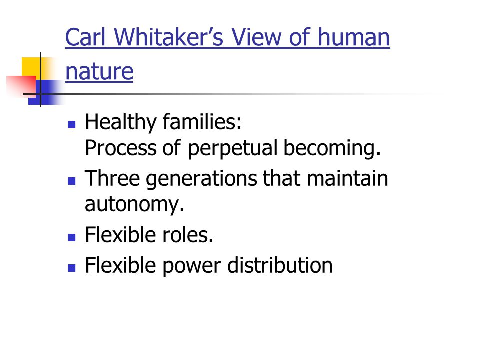 Carl Whitaker's View of human nature
