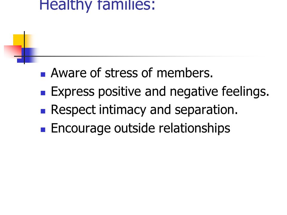 Whitaker- View of human nature Healthy families: