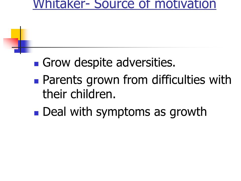 Whitaker- Source of motivation