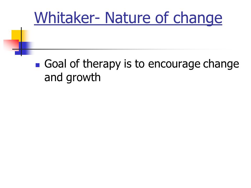 Whitaker- Nature of change