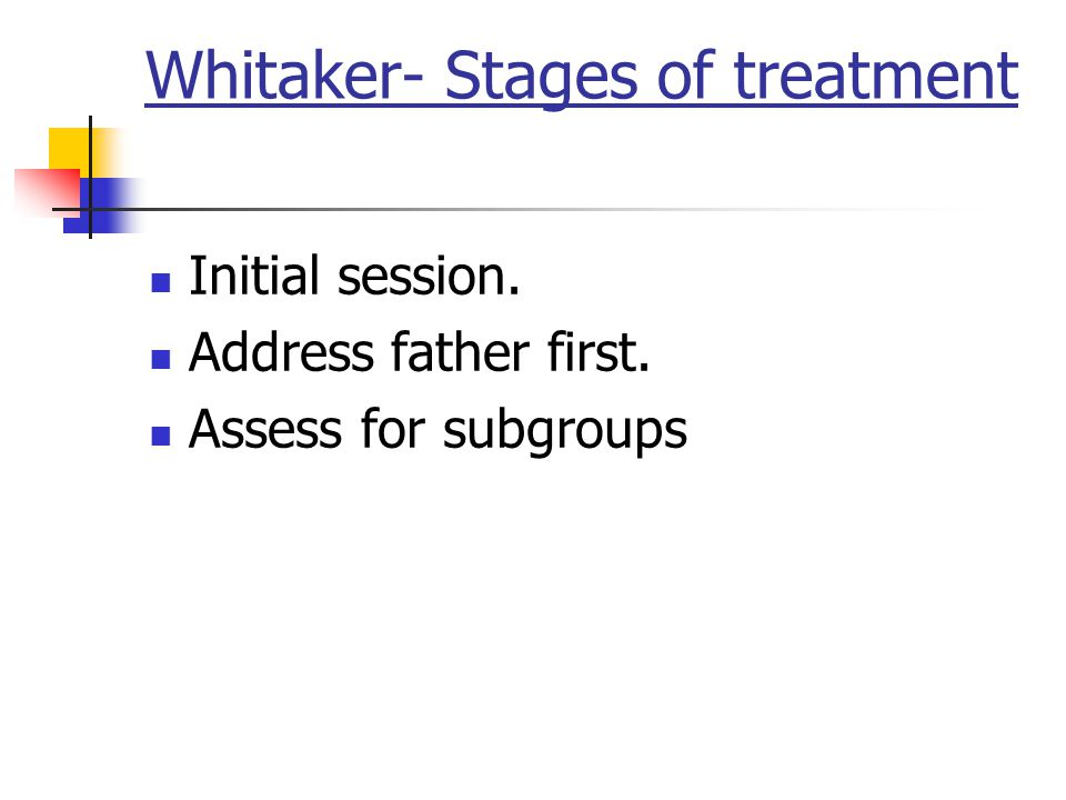 Whitaker- Stages of treatment