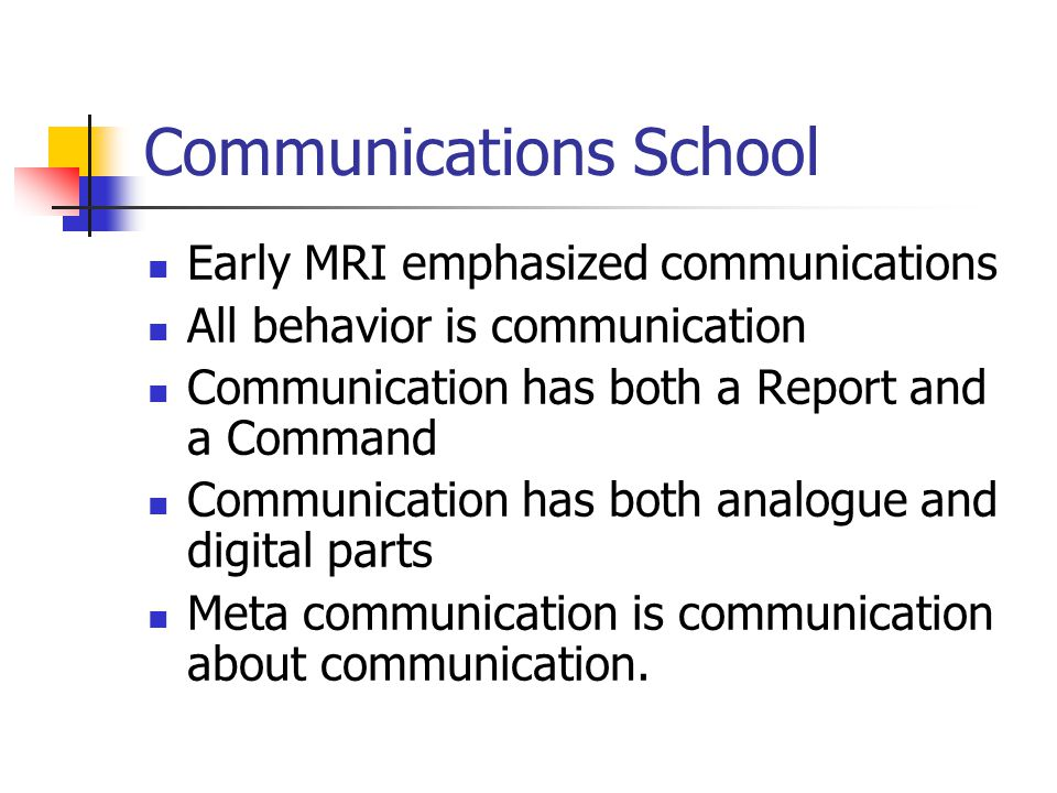 Communications School