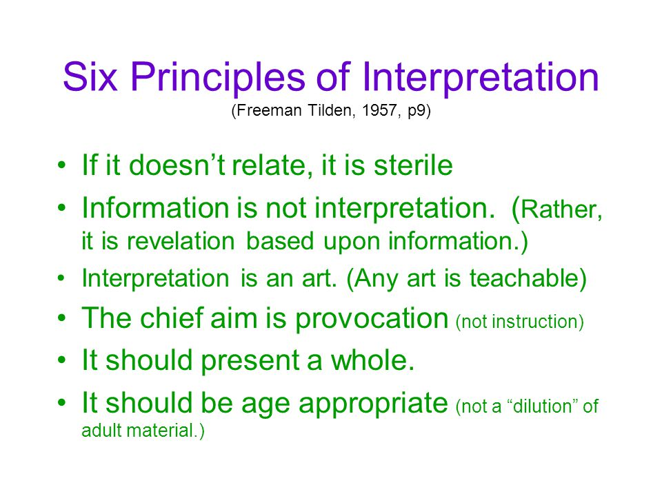 Six Principles Of Art : Theories models in outdoor education ppt video online
