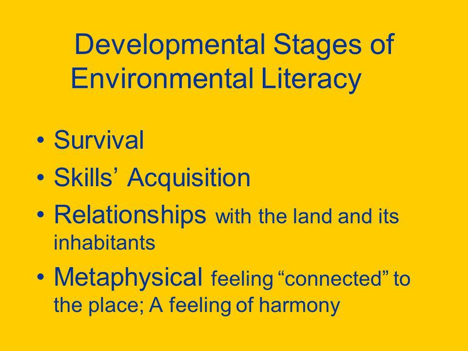 Developmental Stages of Environmental Literacy