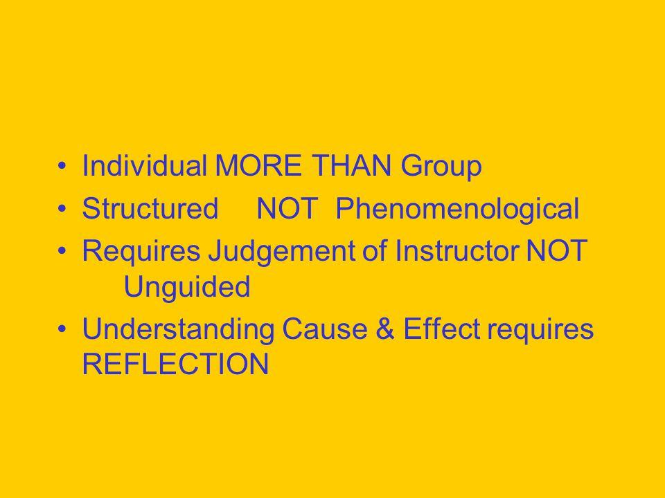 Individual MORE THAN Group