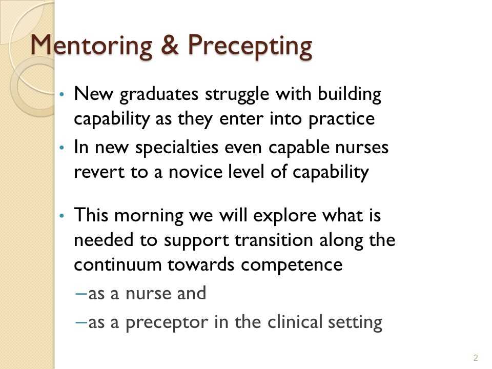Mentoring & Precepting