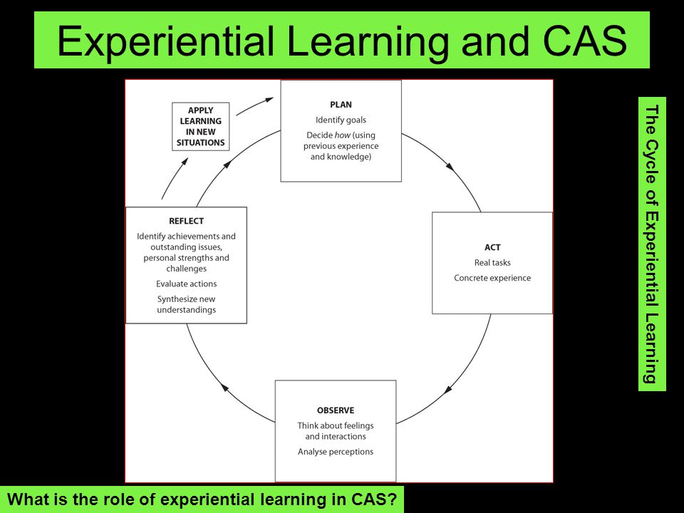 Experiential Learning and CAS