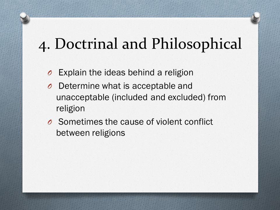 4. Doctrinal and Philosophical