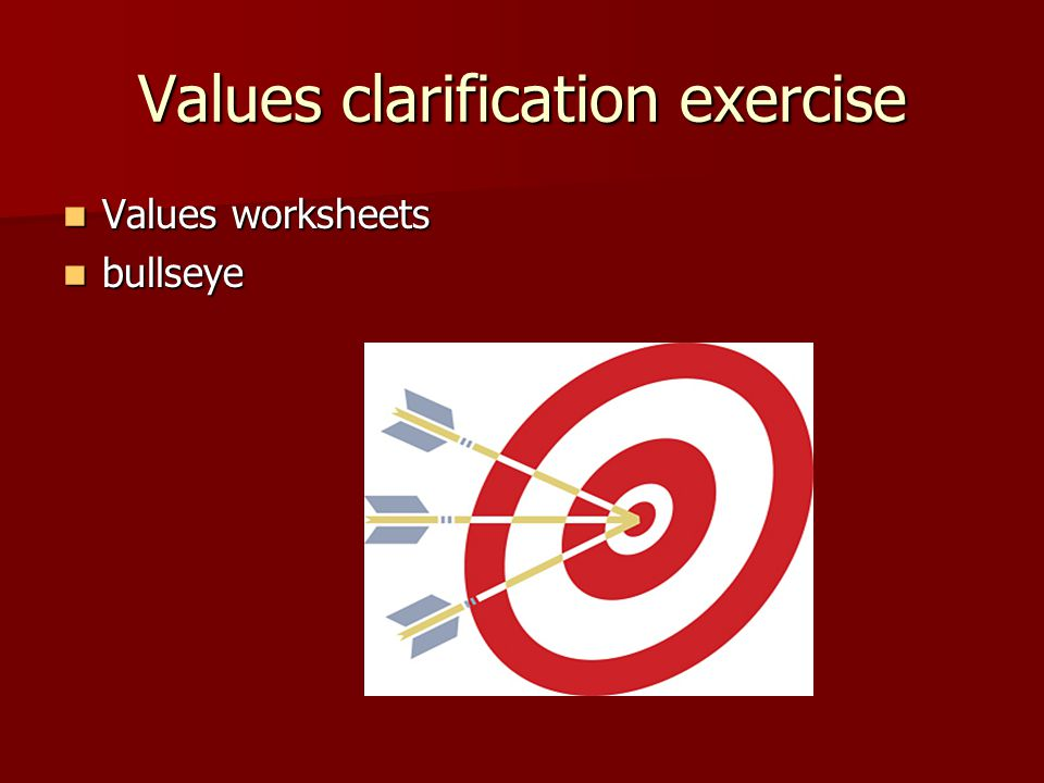Values clarification exercise