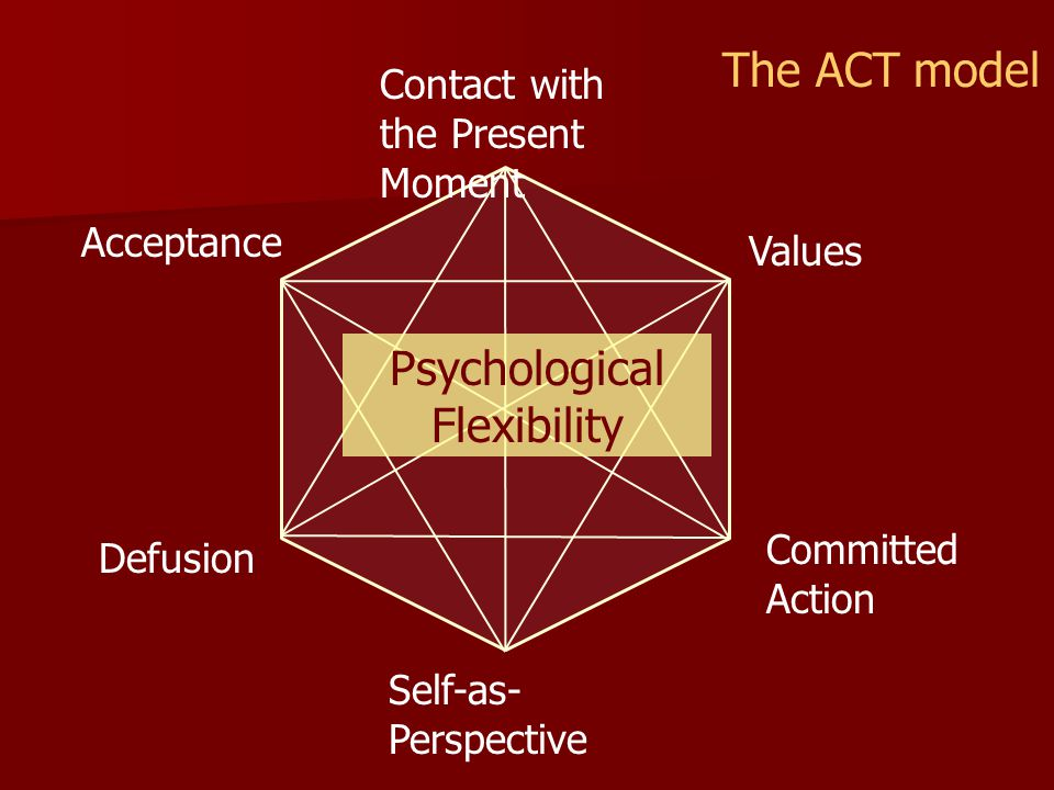 The ACT model Psychological Flexibility