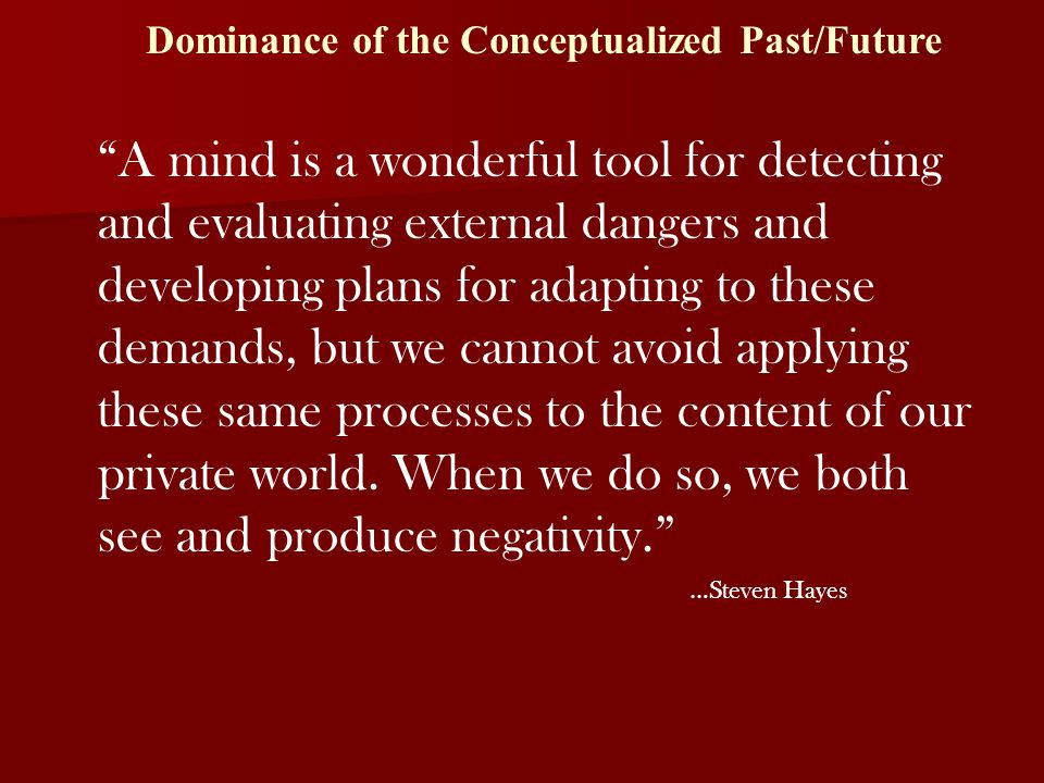 Dominance of the Conceptualized Past/Future