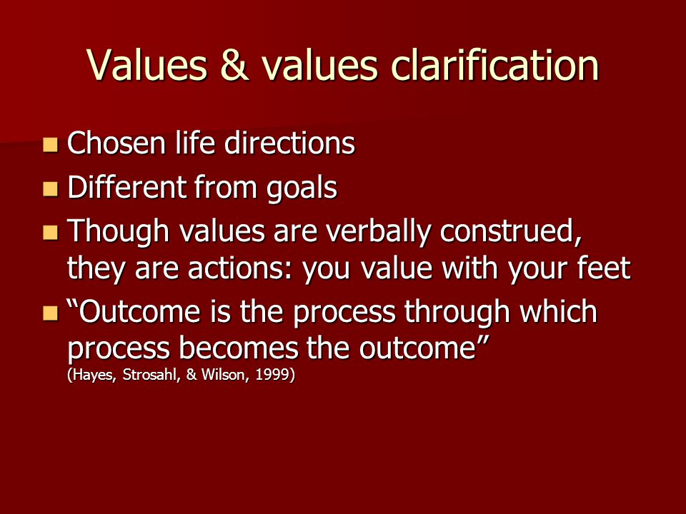 Values & values clarification