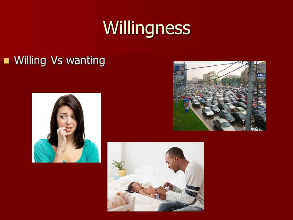 Willingness Willing Vs wanting